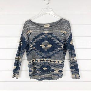 Ralph Lauren Denim & Supply Aztec Sweater Top